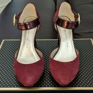 "3"" Plum Suede Shoes"